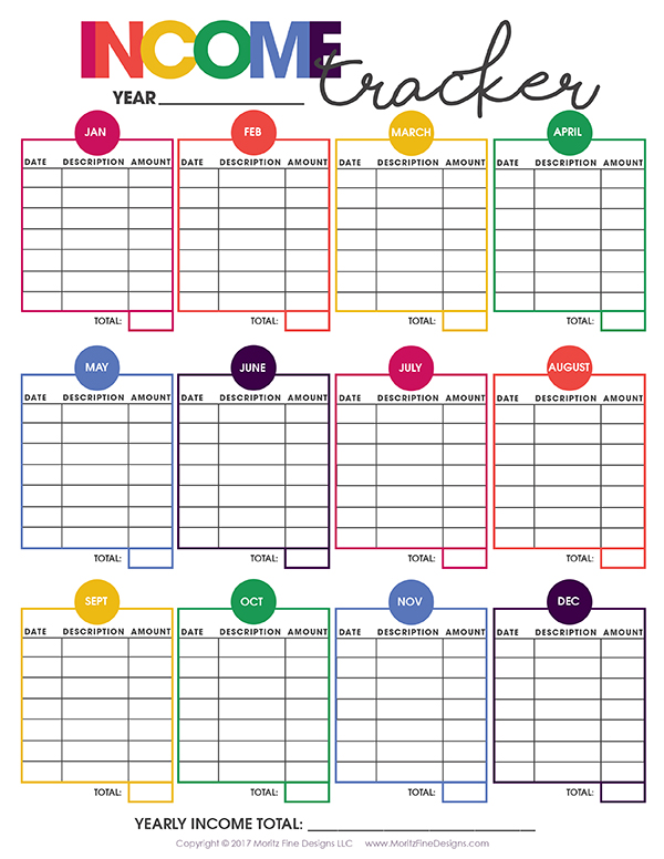 Business Calendar Organizer Organizer Software By Csoftlab C Organizer Advanced Printable Income Tracker Free Printable Included