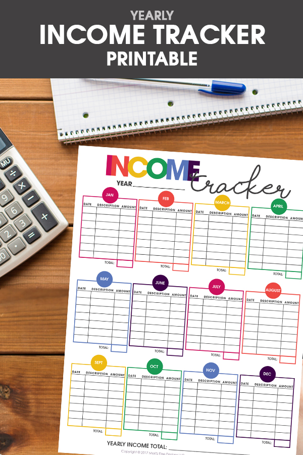 Printable Income Tracker Free Printable Included