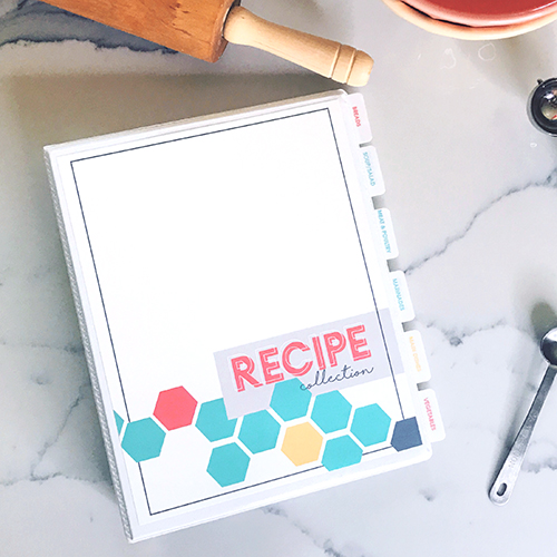 Recipe Collection Binder Printable Kit Moritz Fine Designs