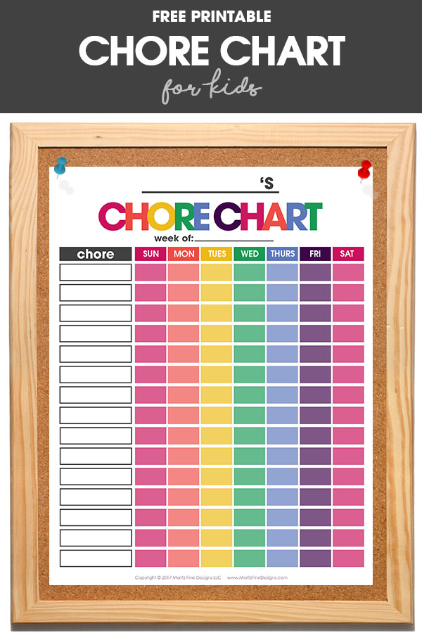 Chore Chart for Kids Free Printable Chore Chart That Works! - kids chart