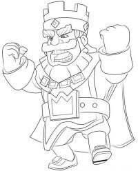 Disegno da colorare Clash Royale : Re arrabbiato 3