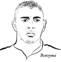 Disegno da colorare Squadra di calcio francese : Karim ...