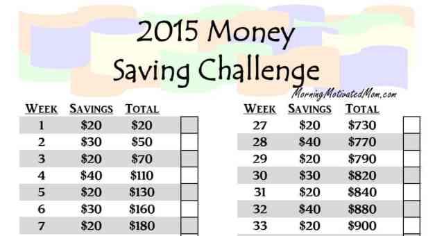 FREE Printable : 52 Week Money Saving Challenge PDF