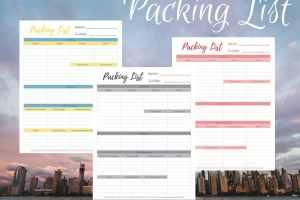 Free Travel Packing List Printable