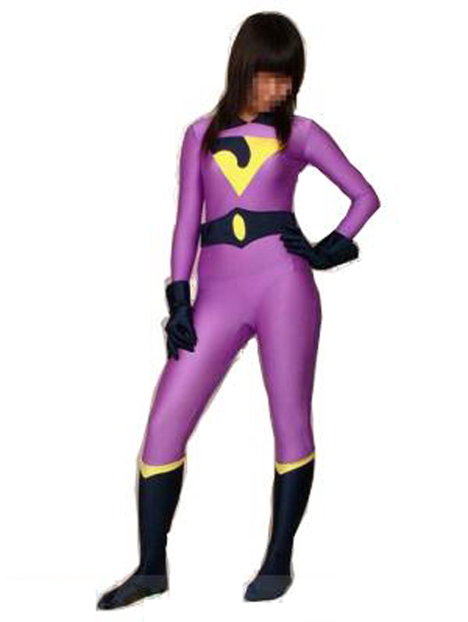 purple superhero costume