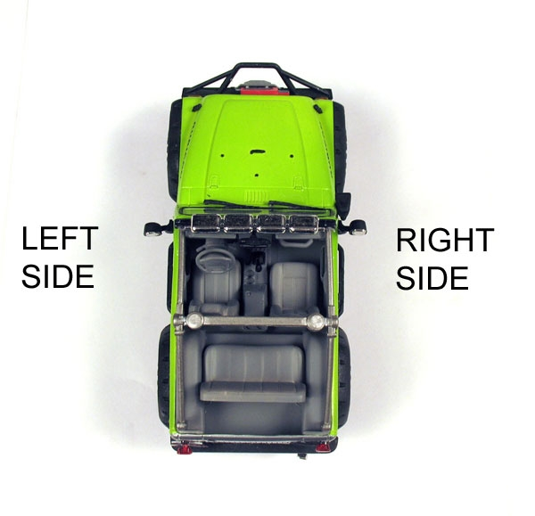Jeep Knowledge Center - Difference Between Left and Right Hand Side