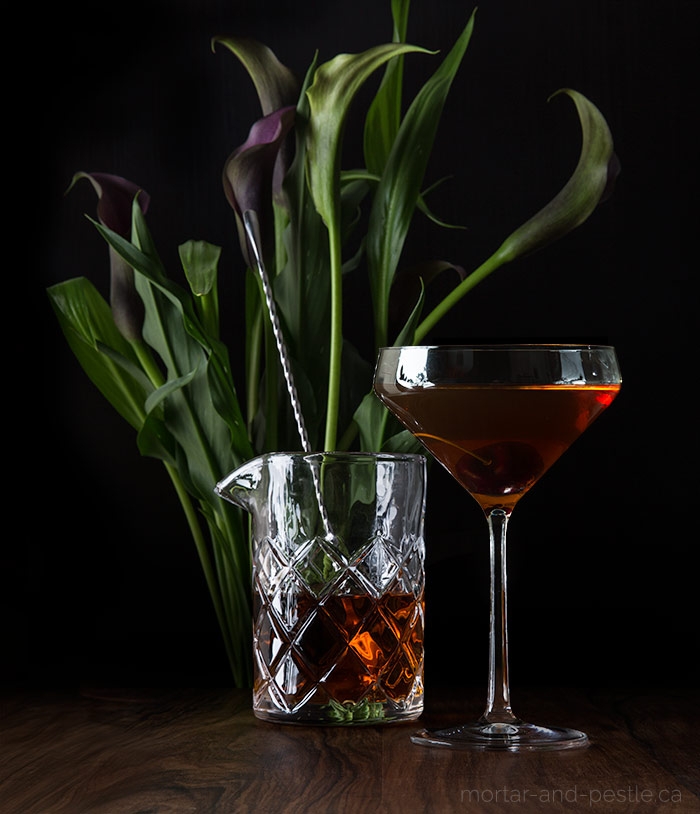 The Manhancho: a spicy spin on the classic Manhattan.