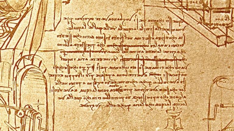 Activity Mirror Writing Leonardo Da Vinci The Genius