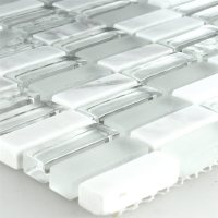 Crystal Glass Marble Mosaic Tiles Mix 10x30x8mm | www ...