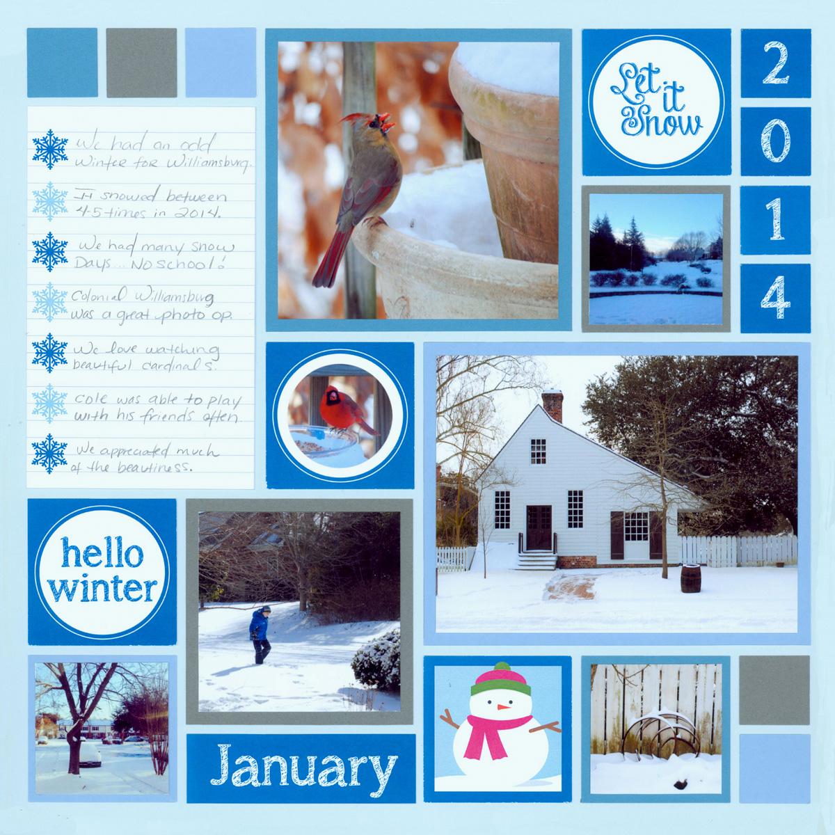 Scrapbook layout ideas winter