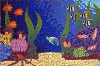 Tropicolour mosaic coffee table - Brett Campbell Mosaics
