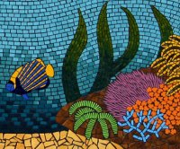 Coral Reefs mosaic wall mural - Brett Campbell Mosaics
