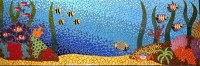 Tropical Reefs outdoor mosaic mural - Brett Campbell Mosaics