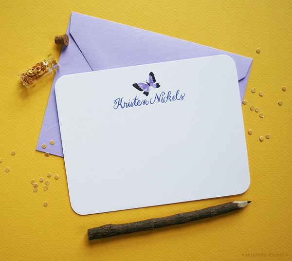 Painted Personalized Note Cards