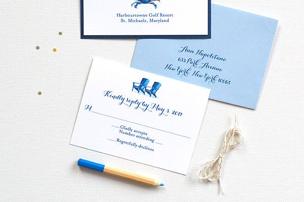 blue crab wedding invitations Archives CUSTOM WATERCOLOR WEDDING