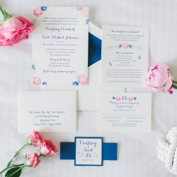 Cool Letterpress Printed Wedding Invitation Suite Original Letterpress Wedding Invitations Stationery Designs Wedding Invitation Suites Nautical Wedding Invitation Suites Packages Watercolor Flowers