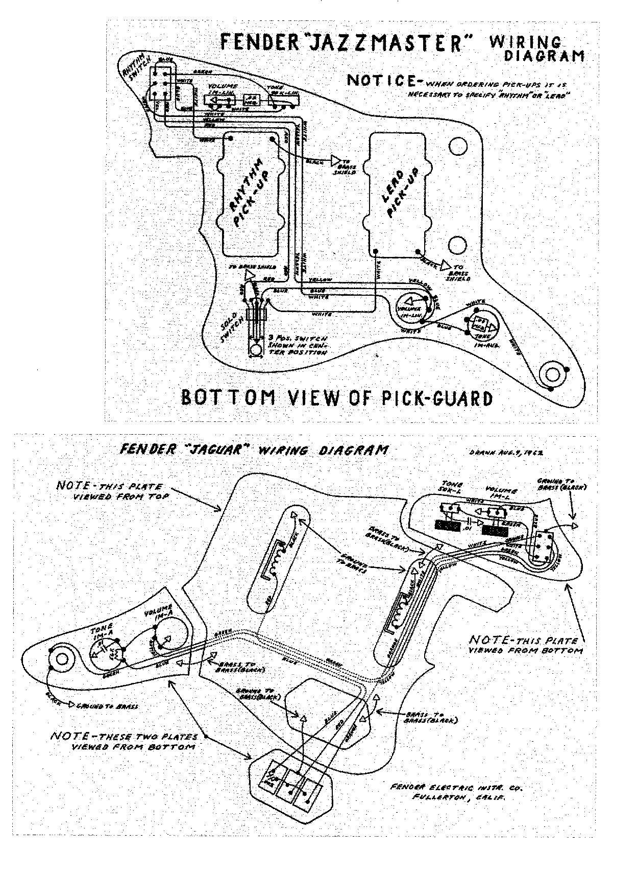 fender jazzmaster wiring diagrams