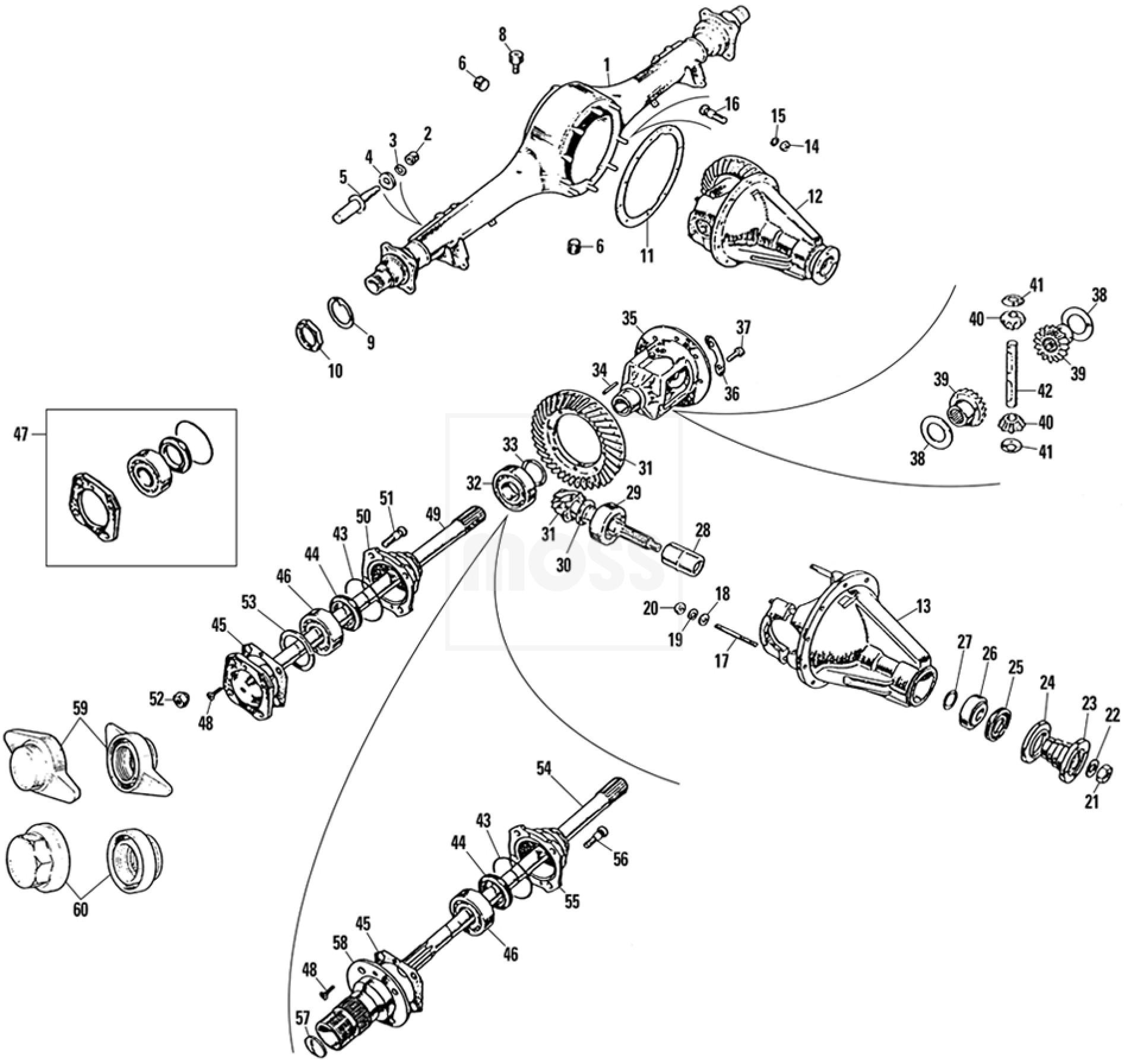 jaguar rear axle diagram
