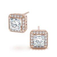 16 Great Designs Of Princess Cut Diamond Stud Earrings ...