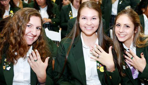 Cabrini High School Seniors Receive Class Rings Missionary Sisters