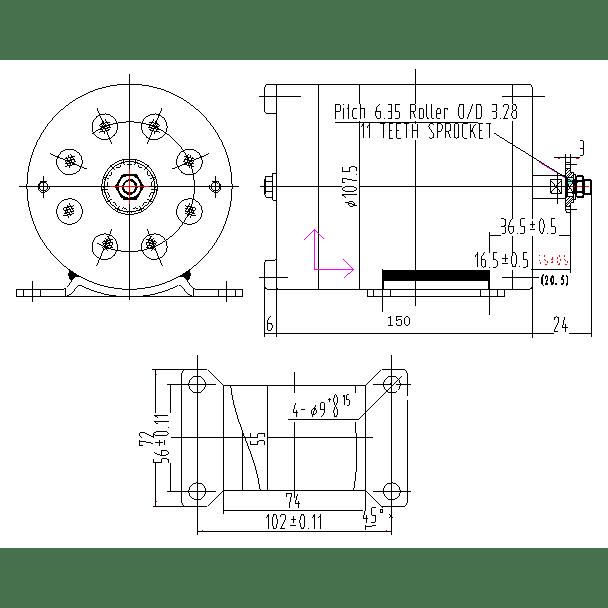 straight 4 Motor diagram
