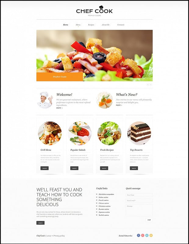 How to Make a Cooking Website - 13 Delicious Designs