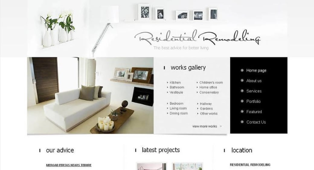 How to Make an Interior Website for Your Design Agency - interior design web template