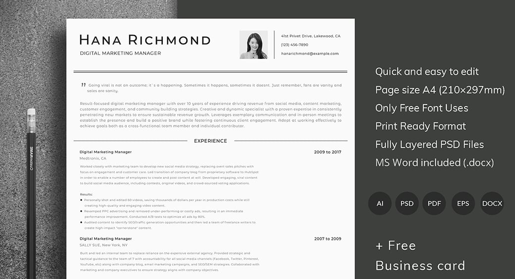 ATS Friendly Resume Template - Format Guide  Sample CV Templates - ats resume template