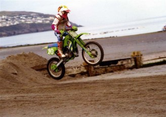 Isle of Man beach race age 14