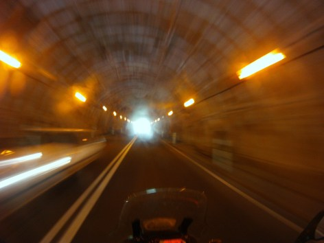 Tunnels are narrow but fun to ride through