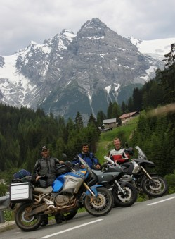 3 very happy riders - The Stelvio Pass completed in style