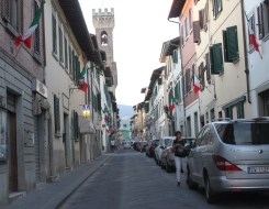 Scarperia village wecomes you Italian style