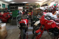 More special bikes and parts in here but there is no room in the museum to show them off