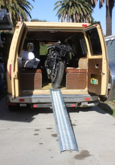 The CBR600 gets loaded into my van