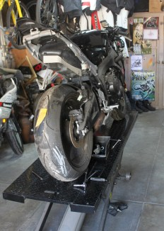 CBR600RR on the bench