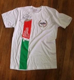 Awesome championship winning Aprilia T-Shirt
