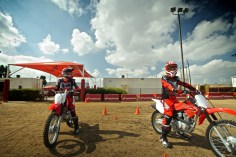 Honda provie perfect bikes and a great facility to learn
