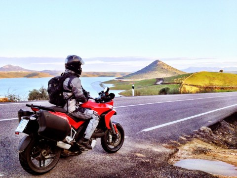 On the road again, Jamie and the Multistrada