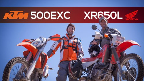KTM 500EXC and Honda XR650L Review