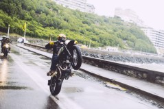 Wet wheelie