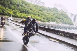 Wet wheelie