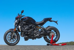 Black Ducati Monster 1200R
