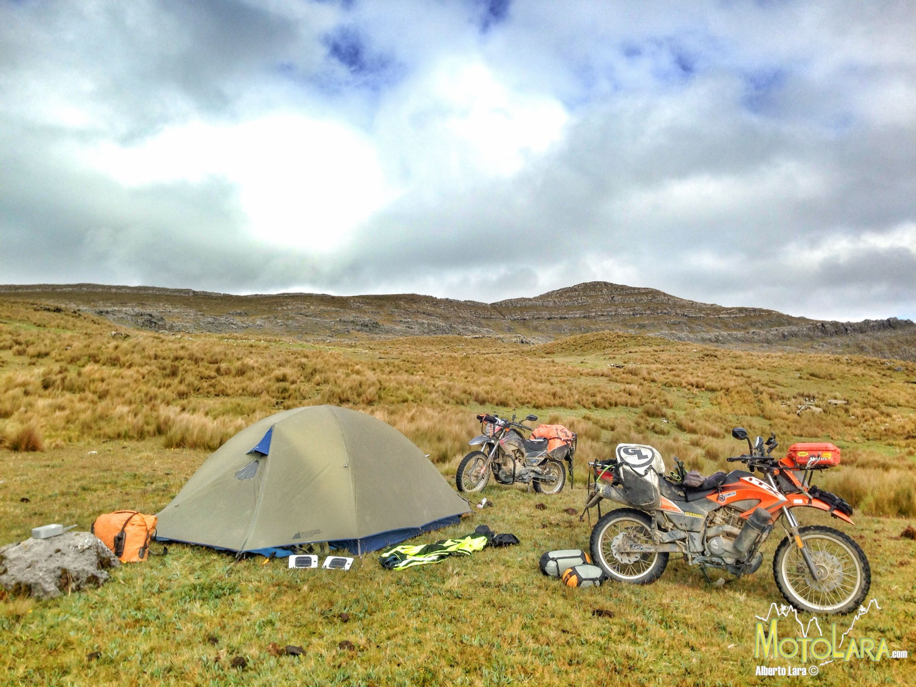 Camping on a wet field