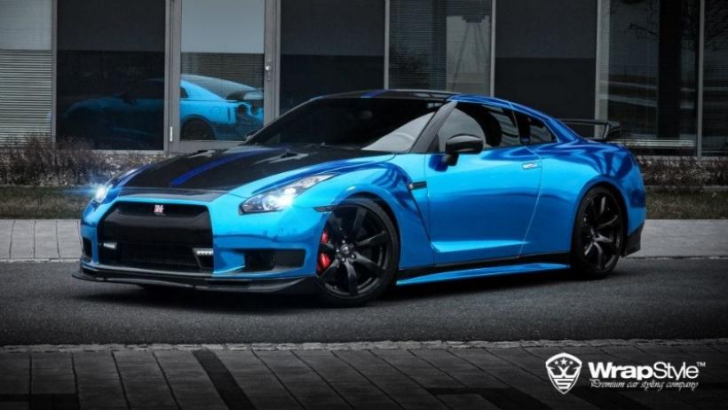 Fast And Furious 5 Cars Wallpapers Nissan Gt R Por Wrapstyle 1 000 Cv Vestidos De Cromo Azul