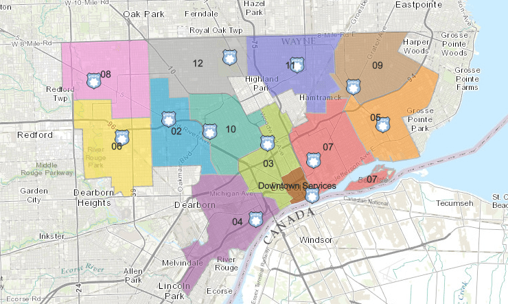 DPD PRECINCTS - Motor City 911 on