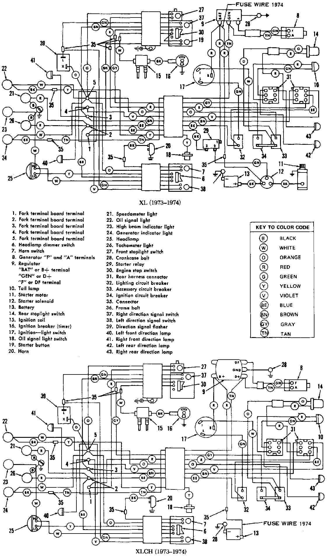 1977 harley flh wiring diagram