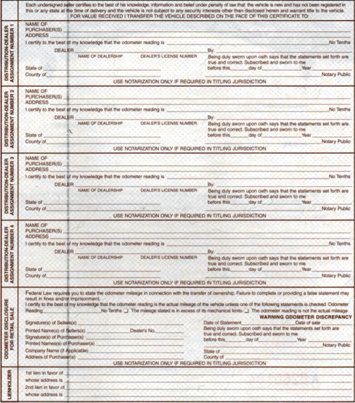 12 Blank Boat Mco Forms & Printing Template Watercraft