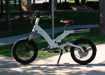 It's certainly not a motorcycle, but the A2B Metro can get you around sticky downtown traffic as well as anything on two wheels. The lithium-ion battery is housed internally in the frame, but can easily be removed.