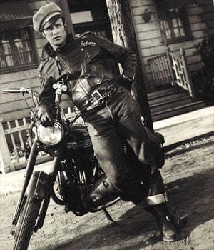 Brando and his Triumph in The Wild One.