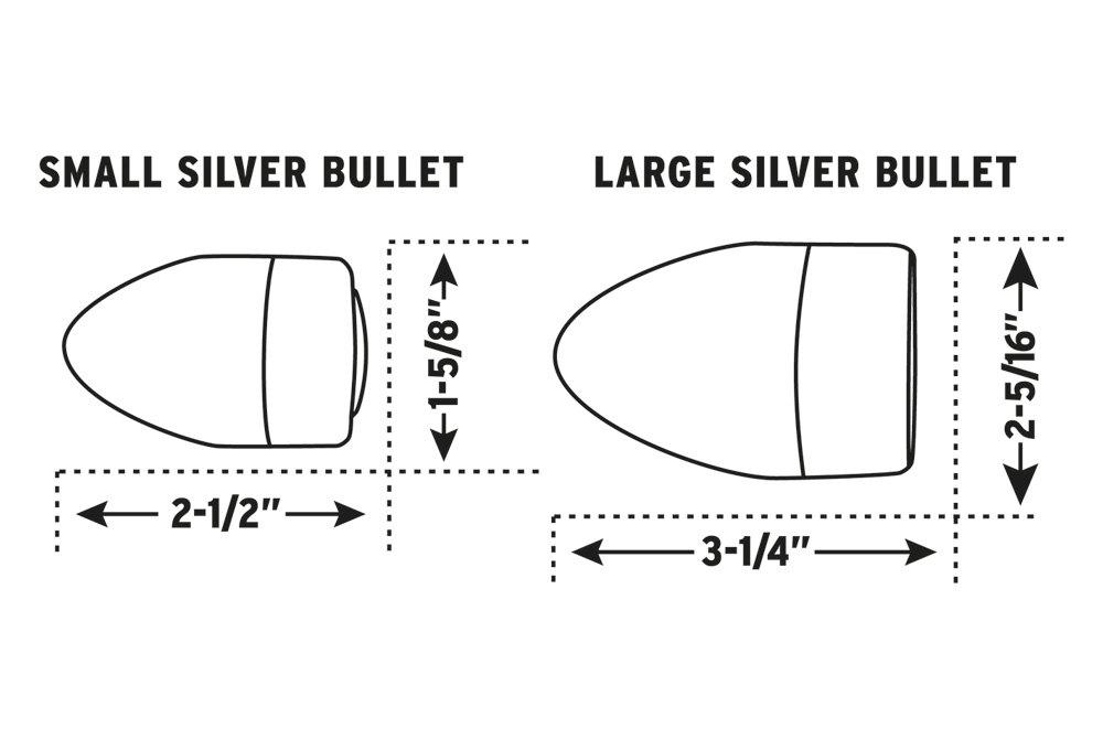 kuryakyn amber dual circuit super bright led silver bullets 1645